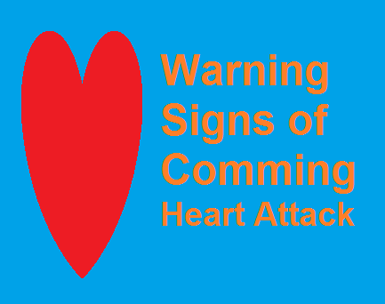 Common warning signs of a forthcoming heart attack