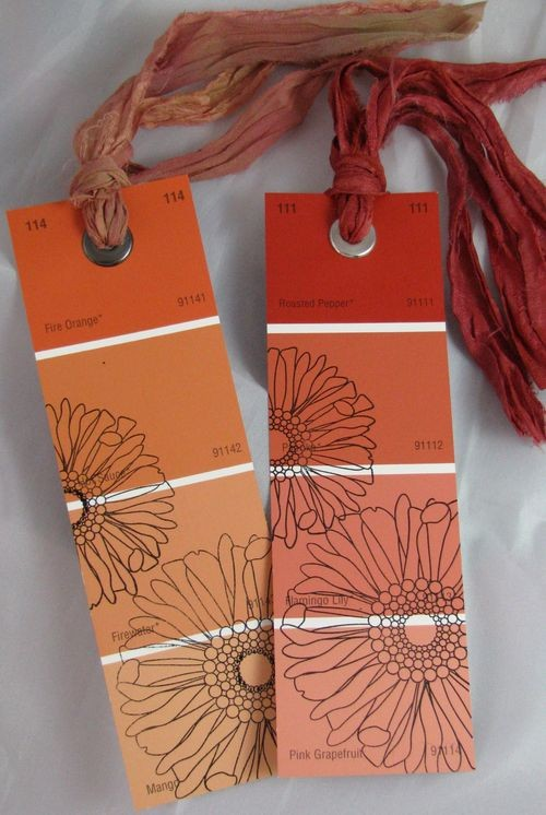 6footsally diy paint swatch bookmarks for Diy bookmarks for guys