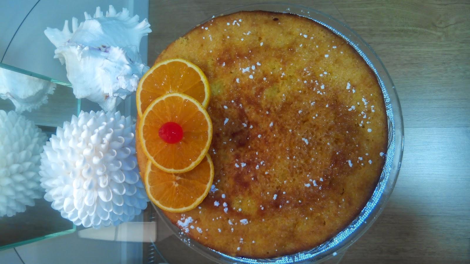 Bizcocho, Bizcocho de naranja, Bizcocho húmedo, Bizcocho jugoso, naranja,