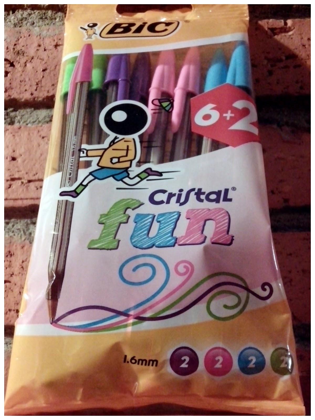 BIC bolígrafos fun cristal colores pastel