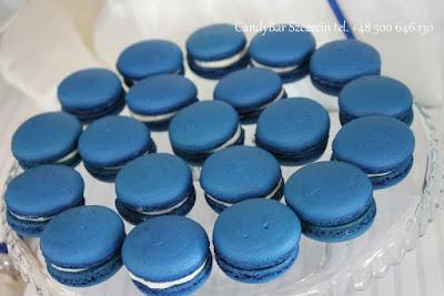 Candy Bar niebieski (niebieskie makaroniki)