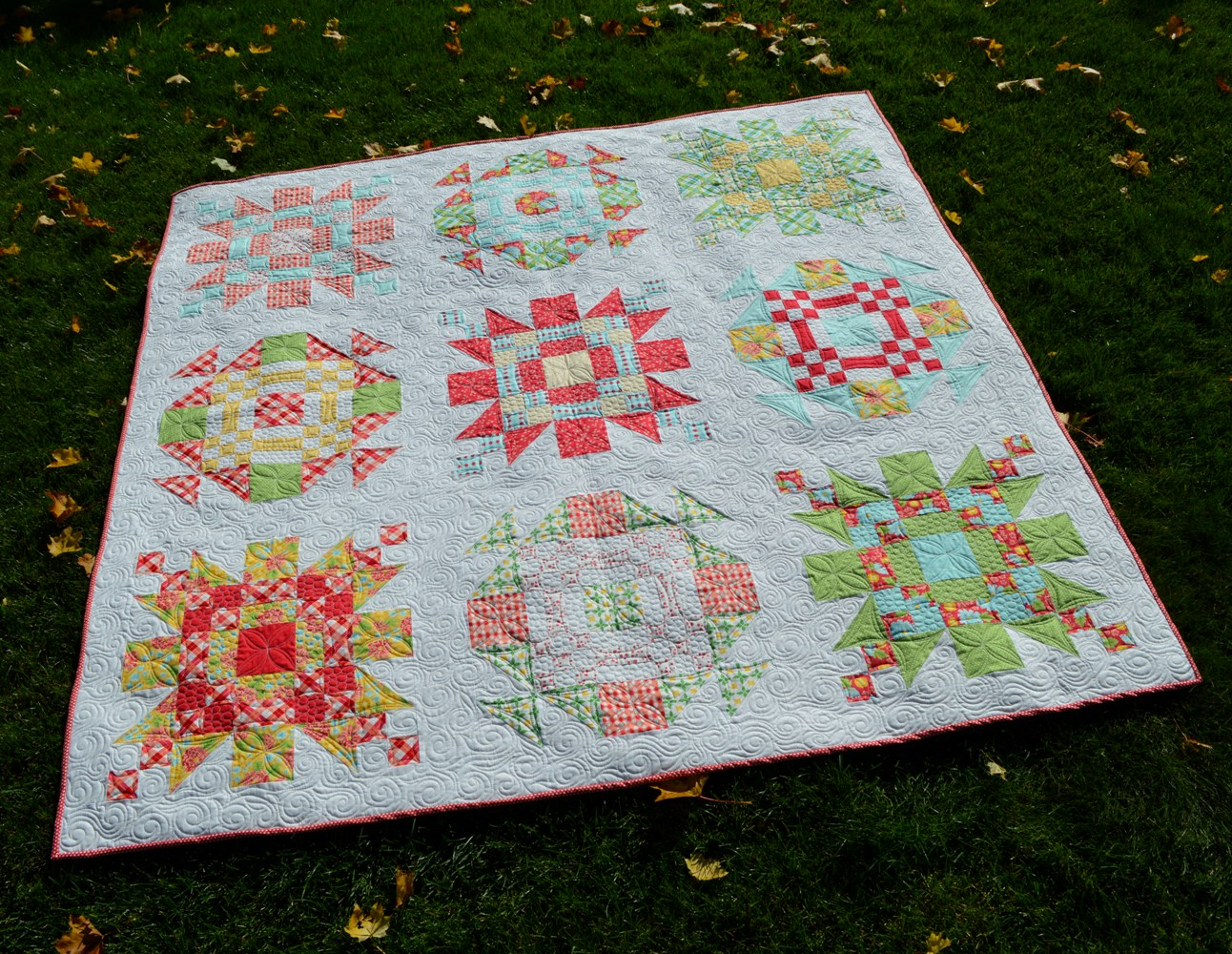 how to make a quilt block stand out