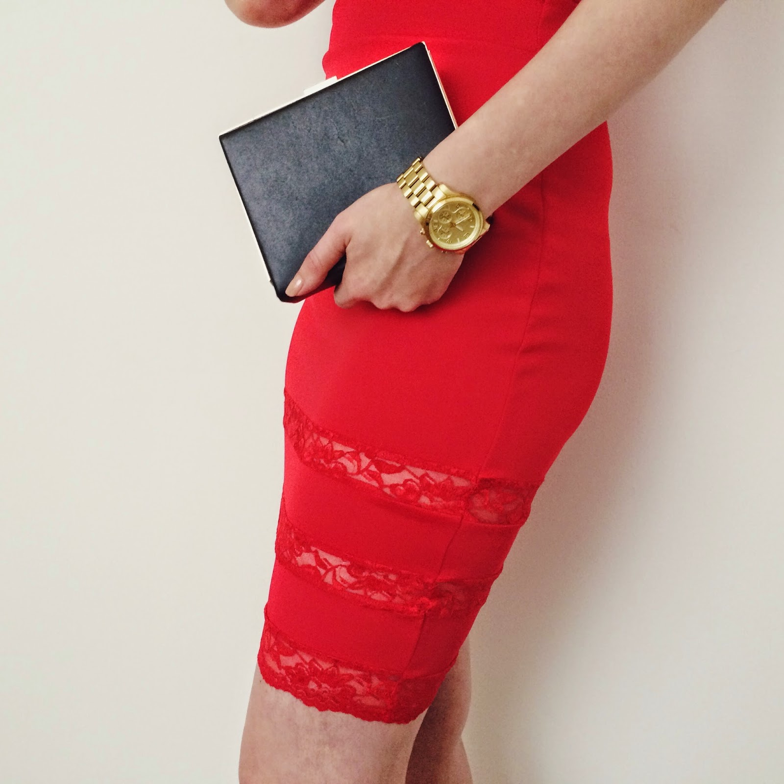 Celeblook review, Red lace dress, fashion bloggers, cocktail wear, FashionFake