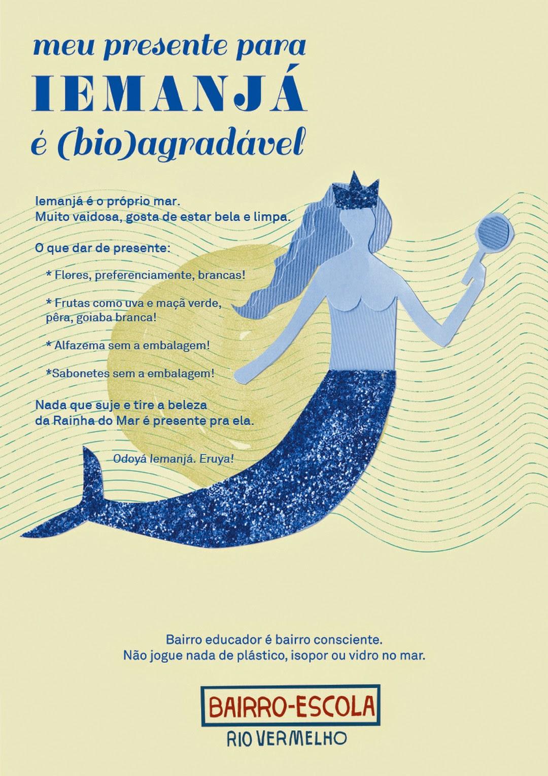 Vamos agradar Iemanjá sem poluir o mar com oferendas (bio)agradáveis