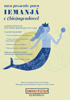 Vamos agradar Iemanjá sem poluir o mar, oferendas só (bio)agradáveis
