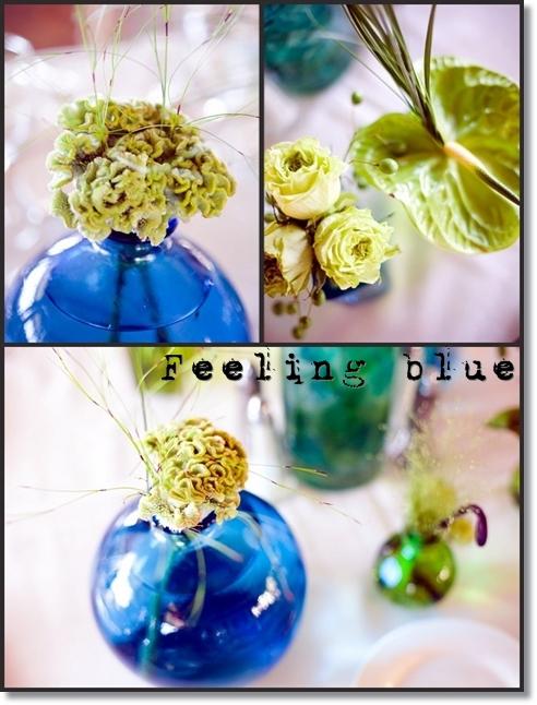 blå vas