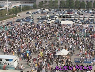 Cosplay area at Comiket