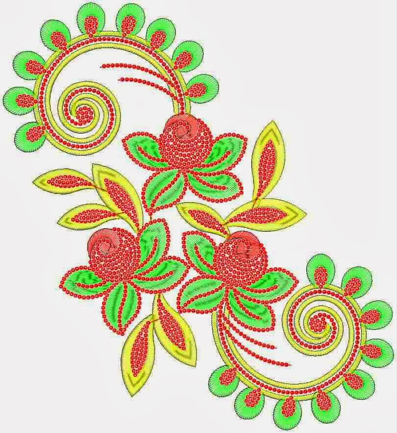 Embdesigntube Sharp  Dark Colors Embroidery Patch Designs