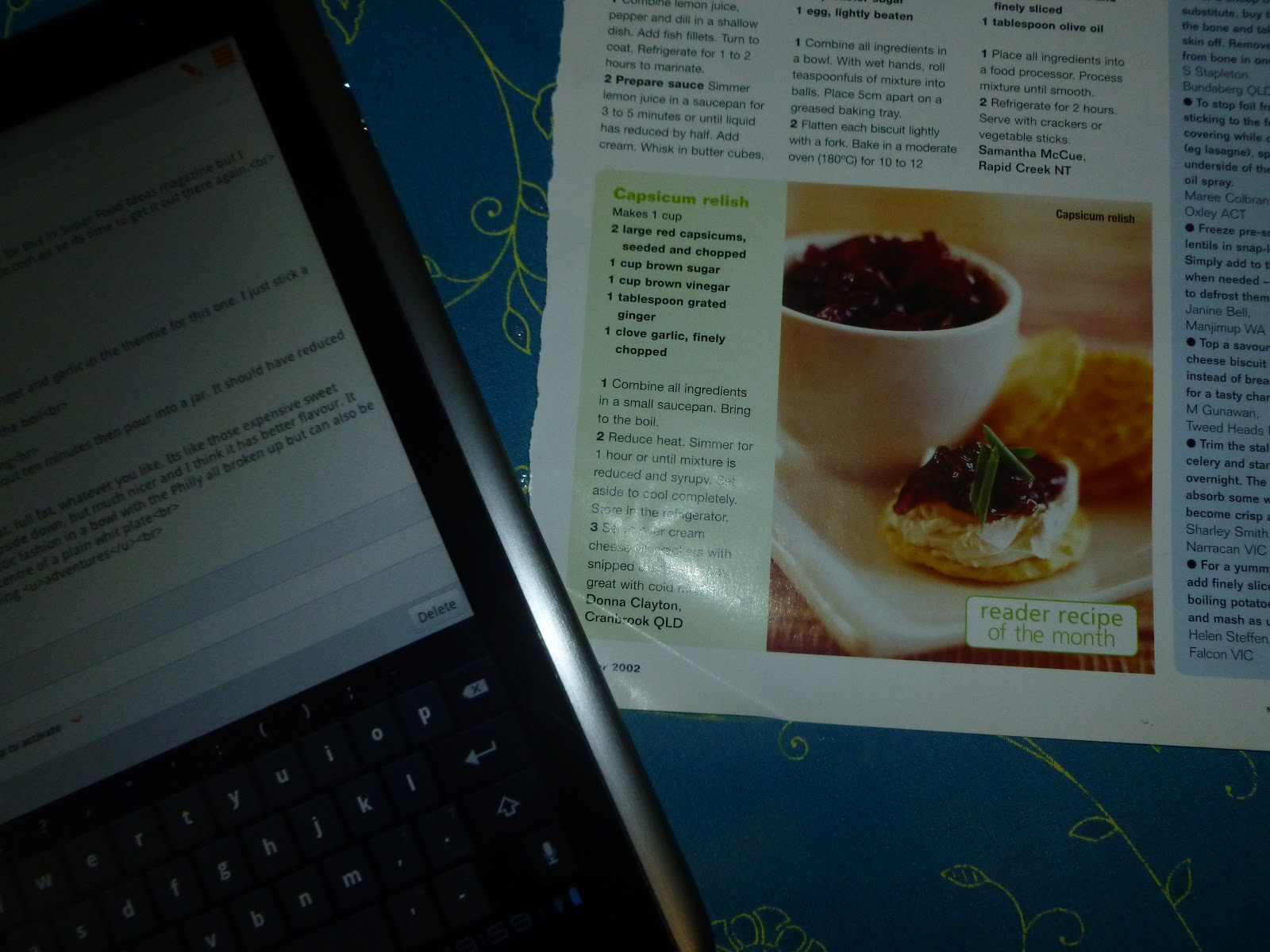 Cafe disarray capsicum relish dip back in 2002 i won reader recipe of the month for this in super food ideas magazine but i dont think this recipe is on the archive at taste so its forumfinder Image collections