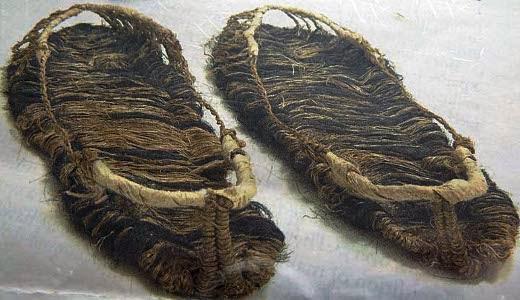 sandalias de cabello humano