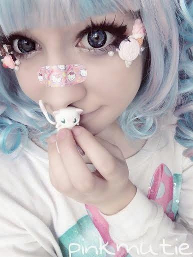 Crazy Halloween Lolita Wears Kimchi Milky Blue Lenses