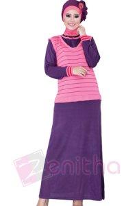 Zenitha Gamis Zn121 - Pink (Toko Jilbab dan Busana Muslimah Terbaru)