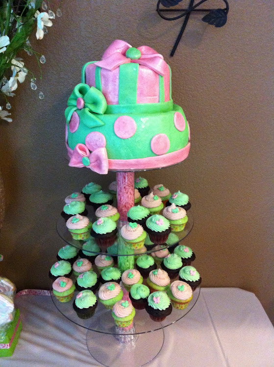 BAY SHOWER CAKE/CUPCAKE TOWER