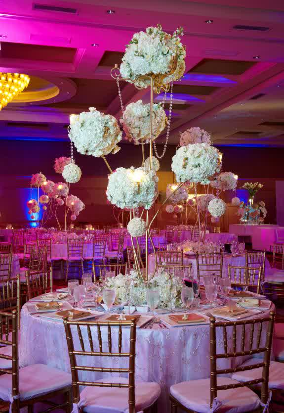 Purple lighting over wedding table centerpieces latest fashion trend by little hint creativity you can have purple lighting wedding decoration over table with tall wedding centerpieces ideas junglespirit Images