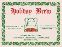 Oshkosh Brewing Company Label, 1940s.