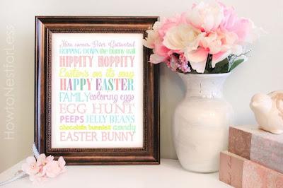 Easter Subway Art, Free Printable #printable #easter