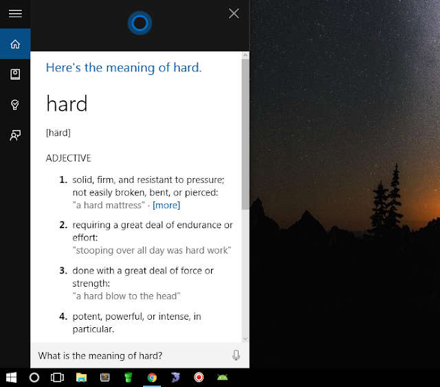 Use Your Cortana as Dictionary to Find the Meanings