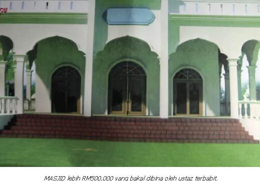 Ustaz Penipu, Derma Buat Banglo Sendiri