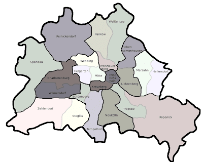 Berlin Karte von Bundesländer