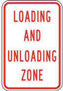 No Loading and Unloading Sign