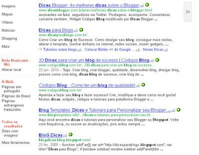 pesquisar dicas blogspot