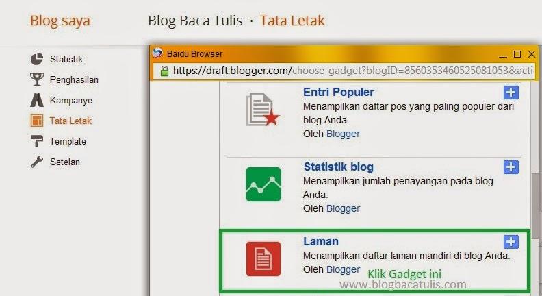 Cara Membuat Menu Di Blog Tanpa Edit HTML