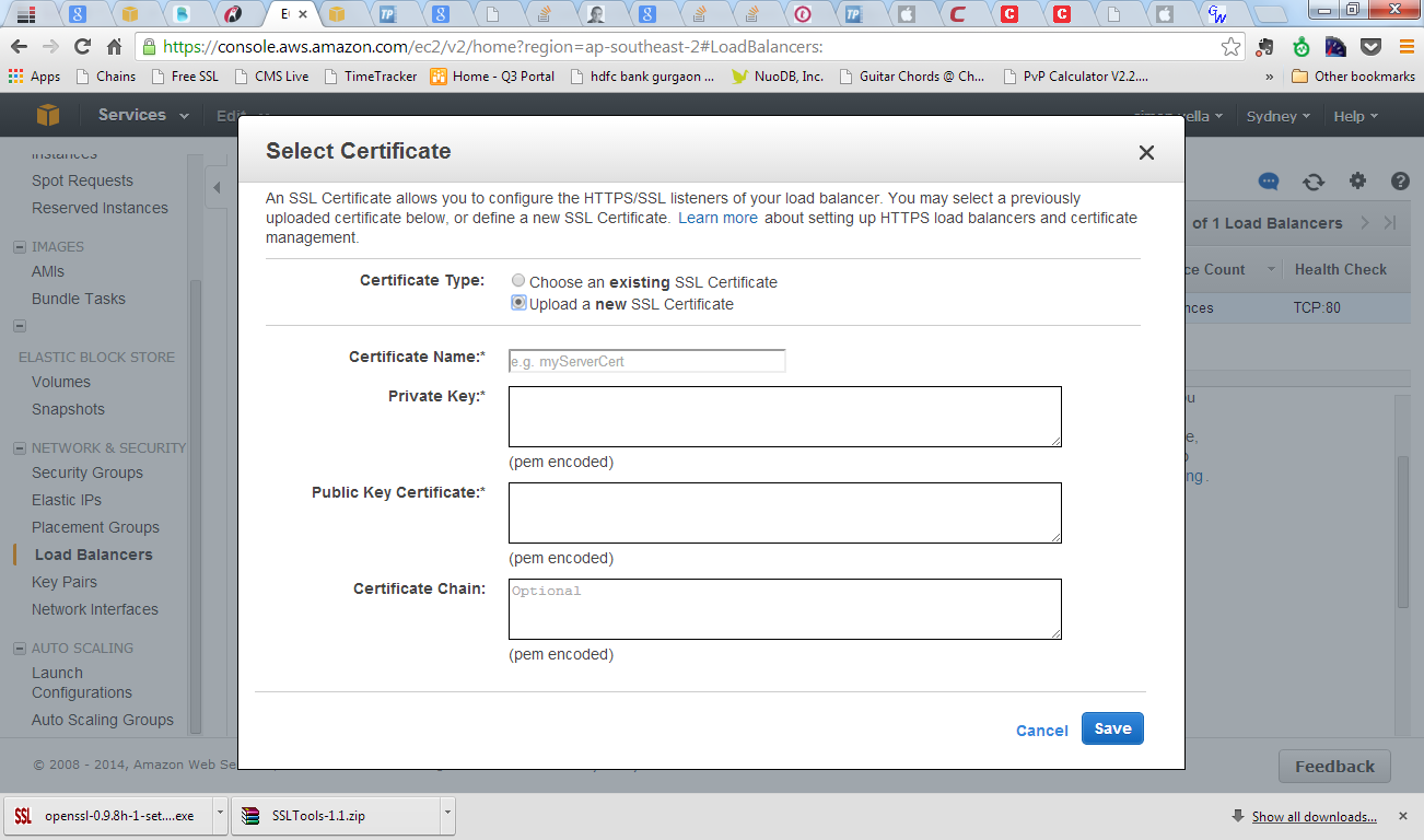 Metal crates ssl certificate generation and deployment part ii fields for uploading a new ssl certificate xflitez Choice Image