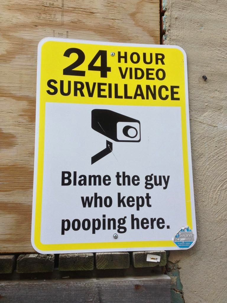 Funny Sign Surveillance