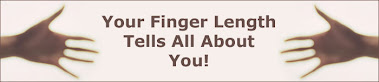 What your finger lengths can predict about you and others...
