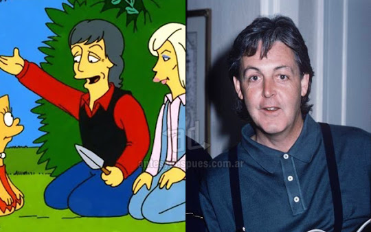 Paul Mccartney simpsons artis+kartun Tokoh tokoh selebriti dalam serial kartun The Simpson
