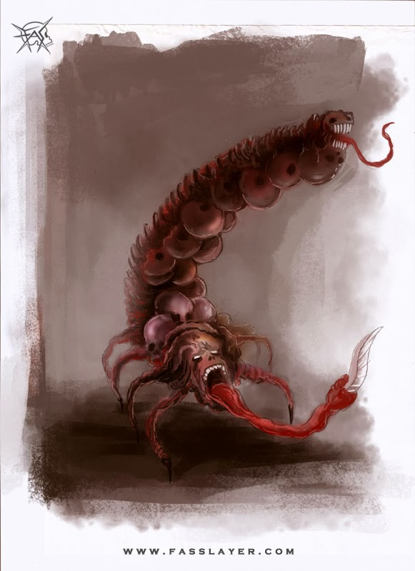 scorpion monster illustration