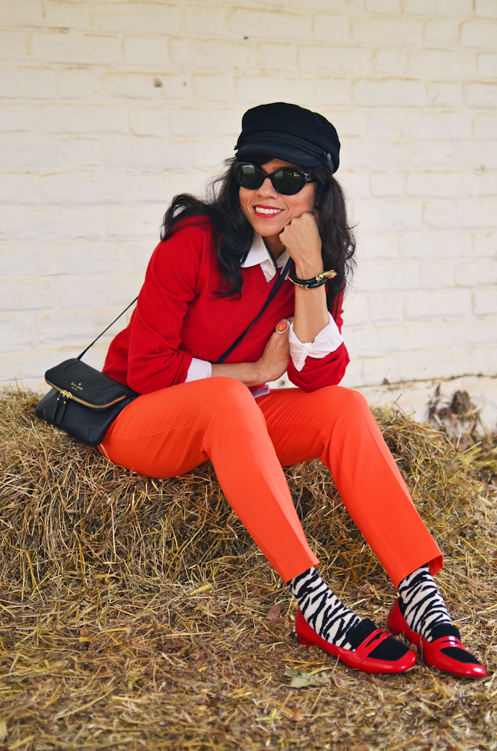 Red and Orange Outfit