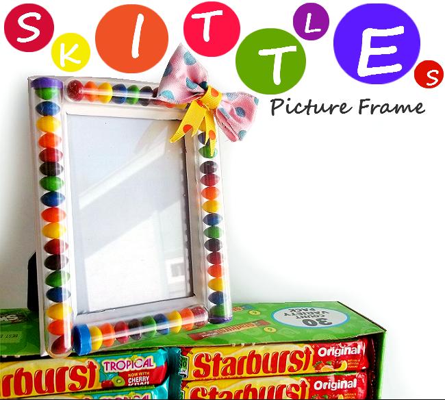 Skittles Picture Frame Spring Craft #VIPFruitFlavors #Shop
