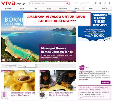 Apakah Trafik Dari Vivalog Aman Untuk Google Adsense?
