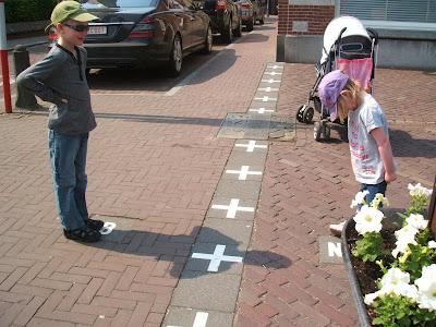 curioso, frontera, Baarle, Holanda, Bélgica