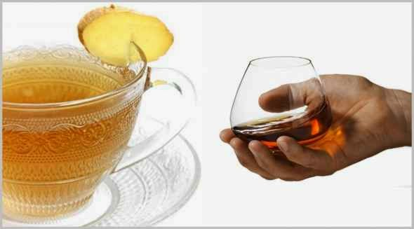 Cognac or Ginger Tea