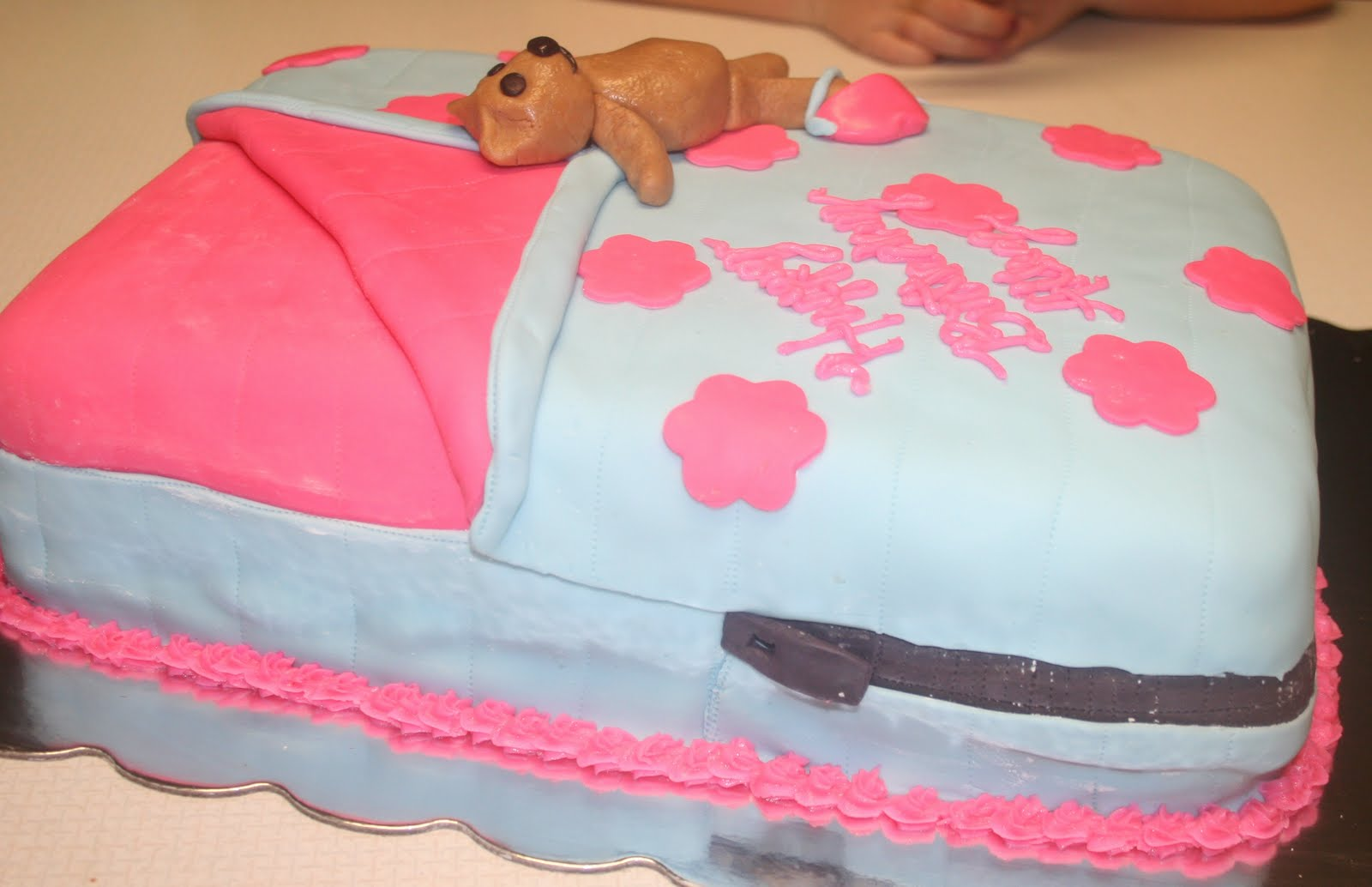 Makeup Bag Birthday Cake