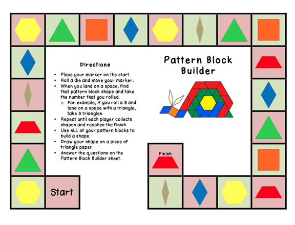 Printables Pattern Block Worksheets bookish ways in math and science monday freebie pattern download block builder