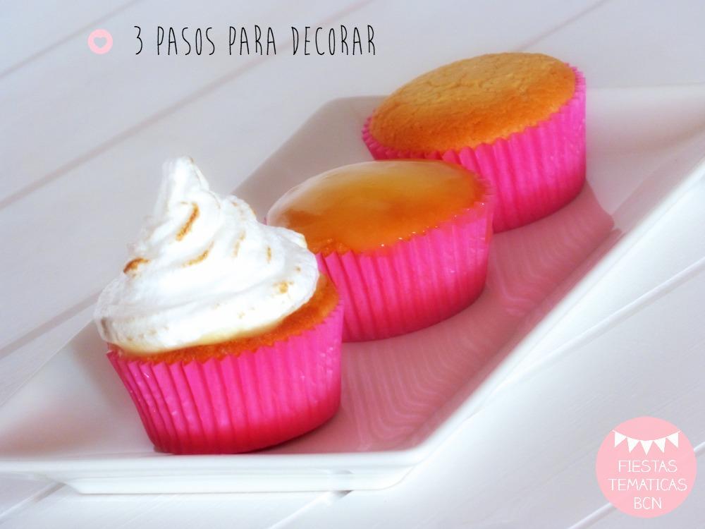 como hacer cupcakes merengue