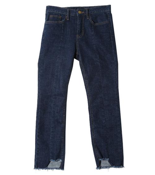 Slim Hem Accent Jeans