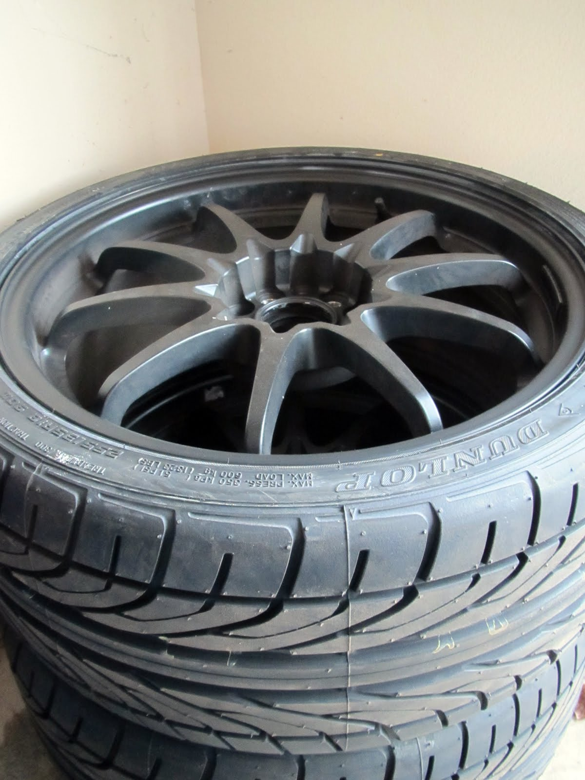 Sold 18x8 5 Rota Dpt Flat Black W New 255 35 18 Dunlop