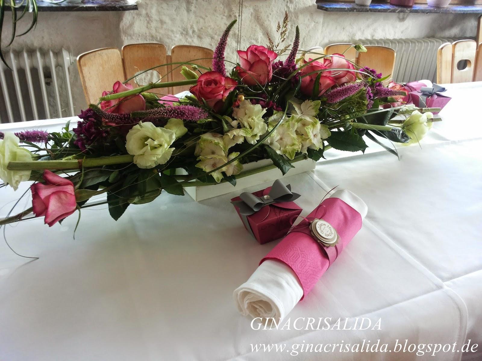 Ginacrisalida tischdekoration zur goldenen hochzeit for Floristik tischdeko