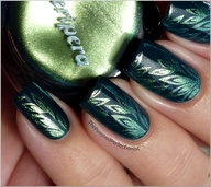 Antique Green Nail Art