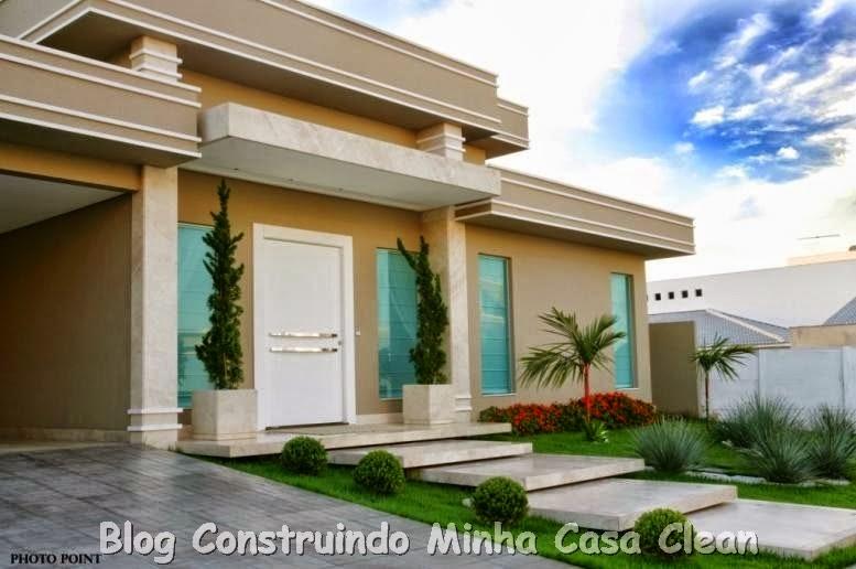 Construindo minha casa clean fachadas de casas com portas imponentes lindas - Entrada de casas modernas ...