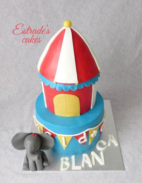 tarta circo con fondant 1