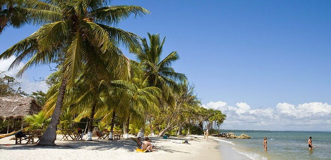 Playa Blanca en Izabal, Guatemala