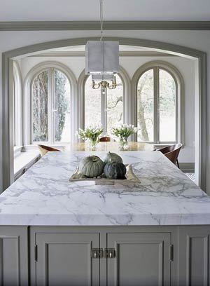 Harmony And Home Designers Of The Hampton Designer Showhouse - Grey cabinets marble countertops