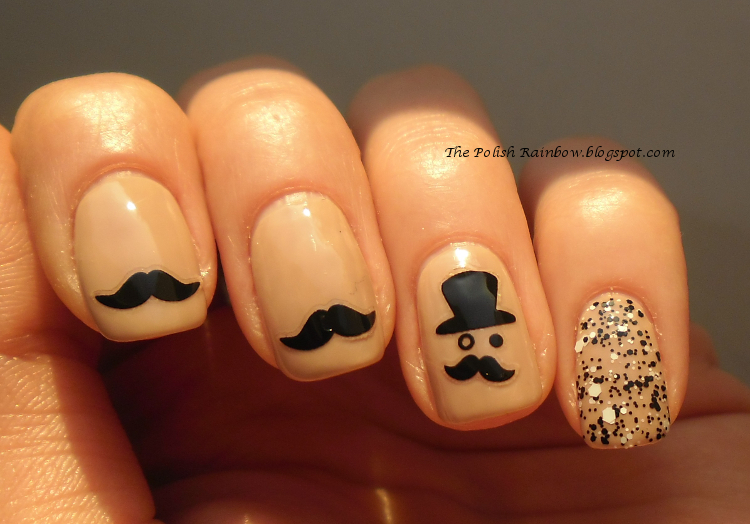 The polish rainbow nail look moustaches and monocle nail look moustaches and monocle prinsesfo Choice Image