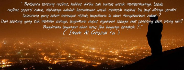 nasihat cinta imam  ghazali tulisan santri