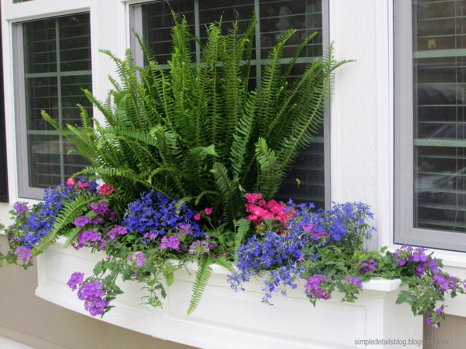 Simple details cottage style window box - Flower box ideas for summer ...